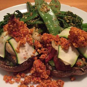 7 Day Easy Vegan Plan Dinner: Portobello Cap Pizza