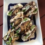 fat loss food eggplant roll up