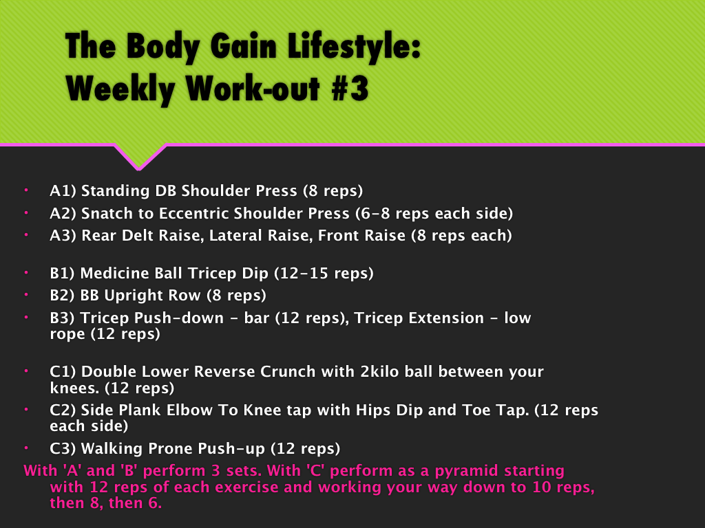 shoulders and triceps workout