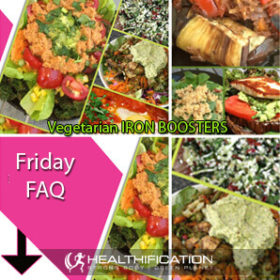 Iron packed Vegetarian meals