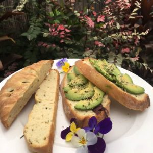 7 Day Easy Vegan Plan Breakfast: bread and avocado