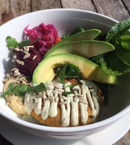 7 Day Easy Vegan Plan Lunch: burger bowl