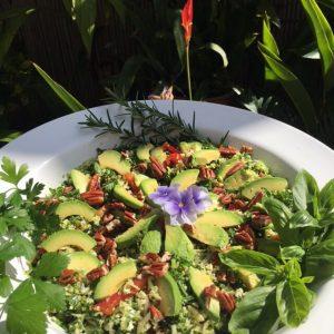 7 Day Easy Vegan Plan Lunch: cauli kale tabouli