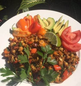 7 Day Easy Vegan Plan Breakfast: chickpea scramble
