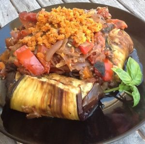 7 Day Easy Vegan Plan Dinner: Eggplant Cannelloni
