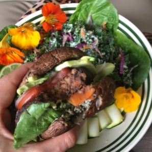vegan portobello burger